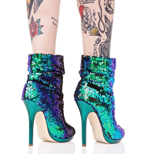 Mermaid Dreamz Sequin Booties