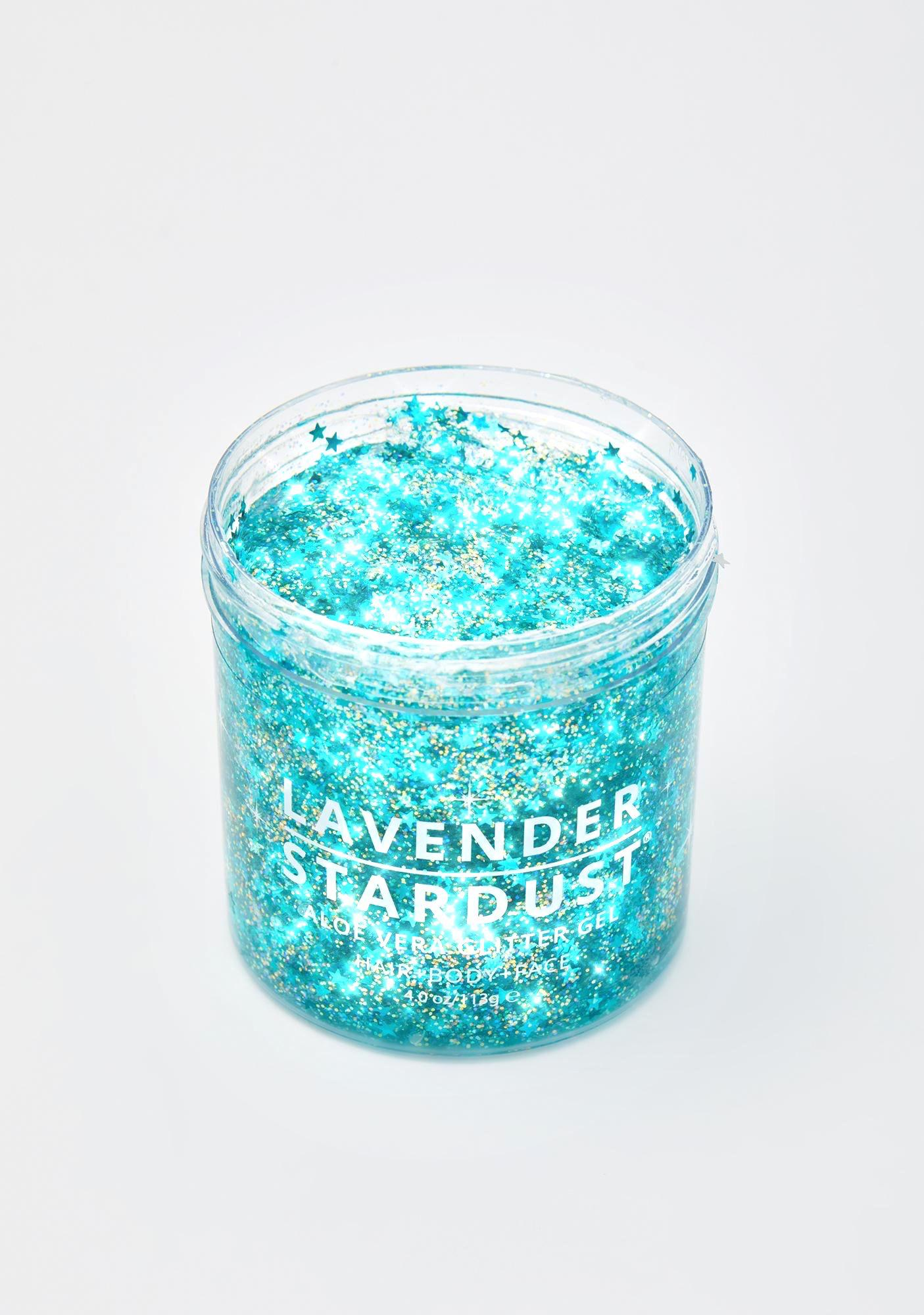 Lavender Stardust Mermaid Aloe Vera Glitter Gel