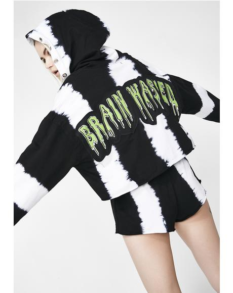 Brainwashed Tie Dye Crop Hoodie
