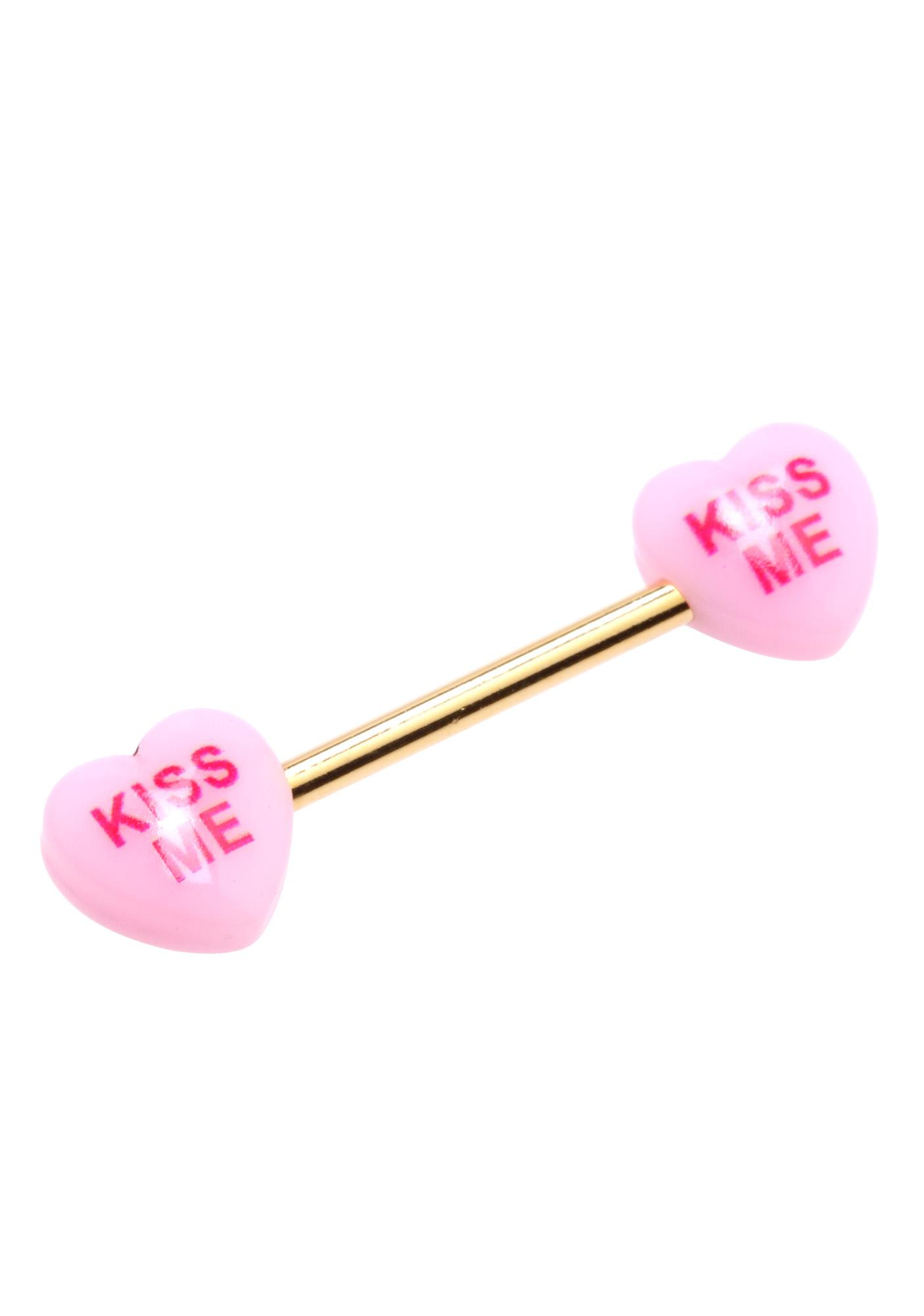 Sweet Kiss Barbell Nipple Rings