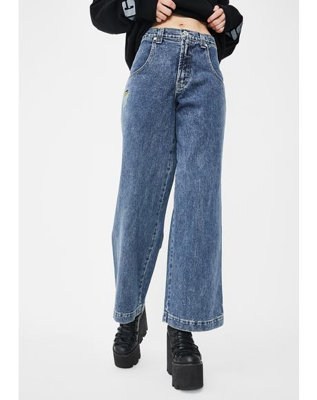 179 Pipes Wide Leg Jeans