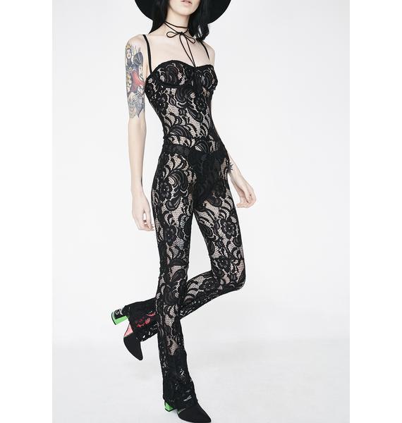 Matte Siren Lace Full Bodysuit