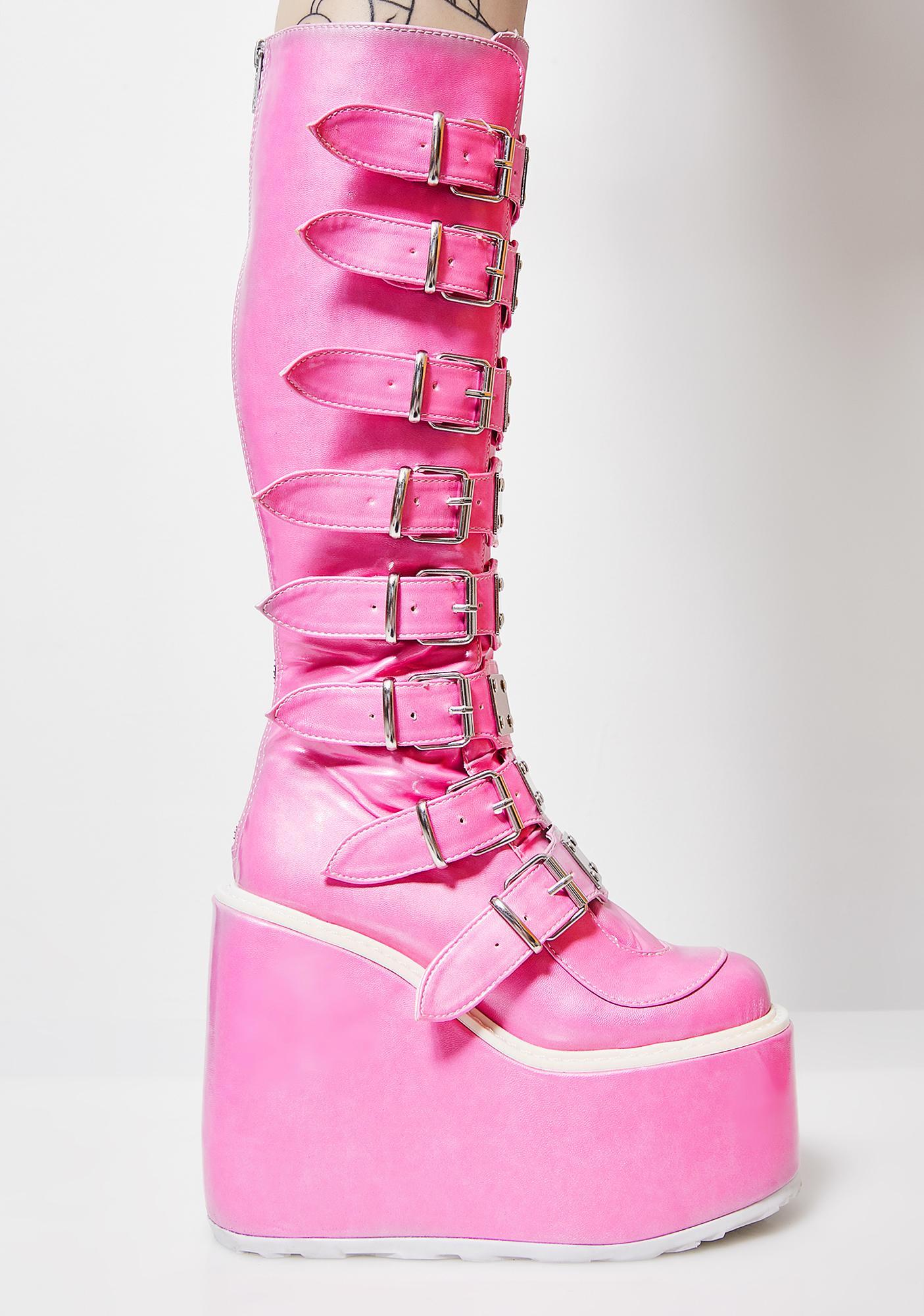 Demonia Sweeter Than Eva Trinity Boots