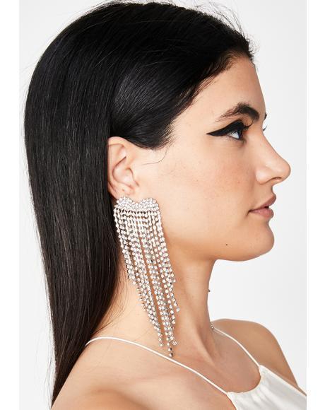 Royally Pressed Rhinestone Earrings