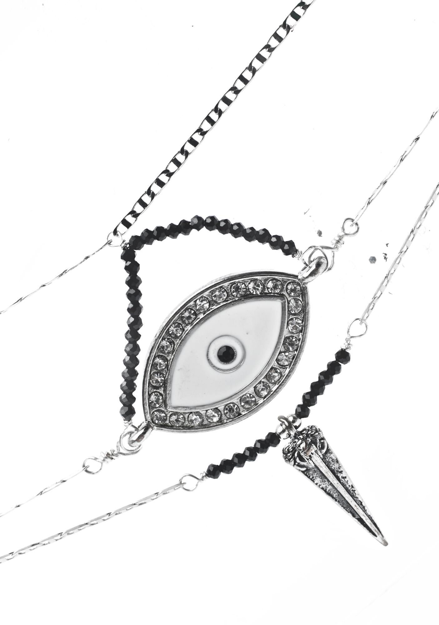 Vidakush Crystal Eye Choker