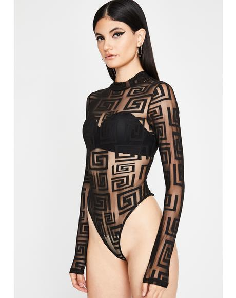 Unholy Ancient Element Sheer Bodysuit