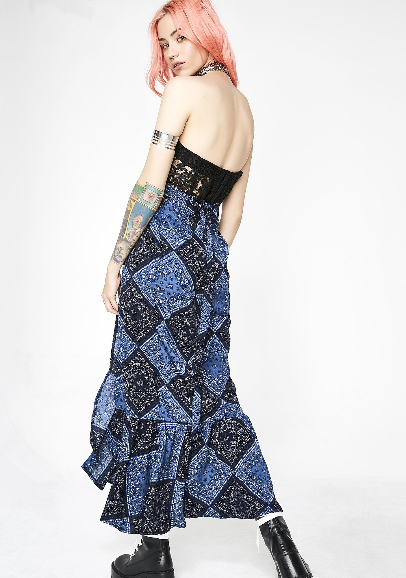 Lira Clothing Mad Blue Elsa Skirt