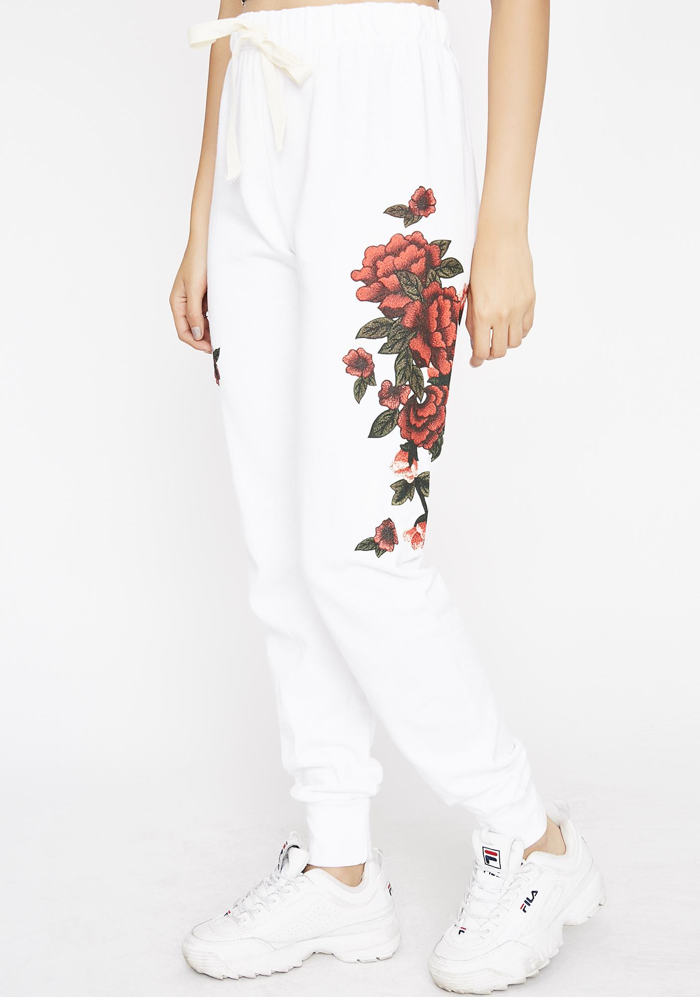 Rose City Embroidered Joggers