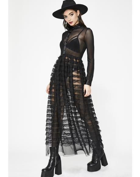 Witchy Wonder Ruffled Maxi Dress