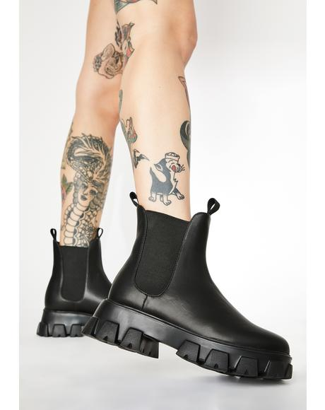 Peep My Profile Chelsea Boots
