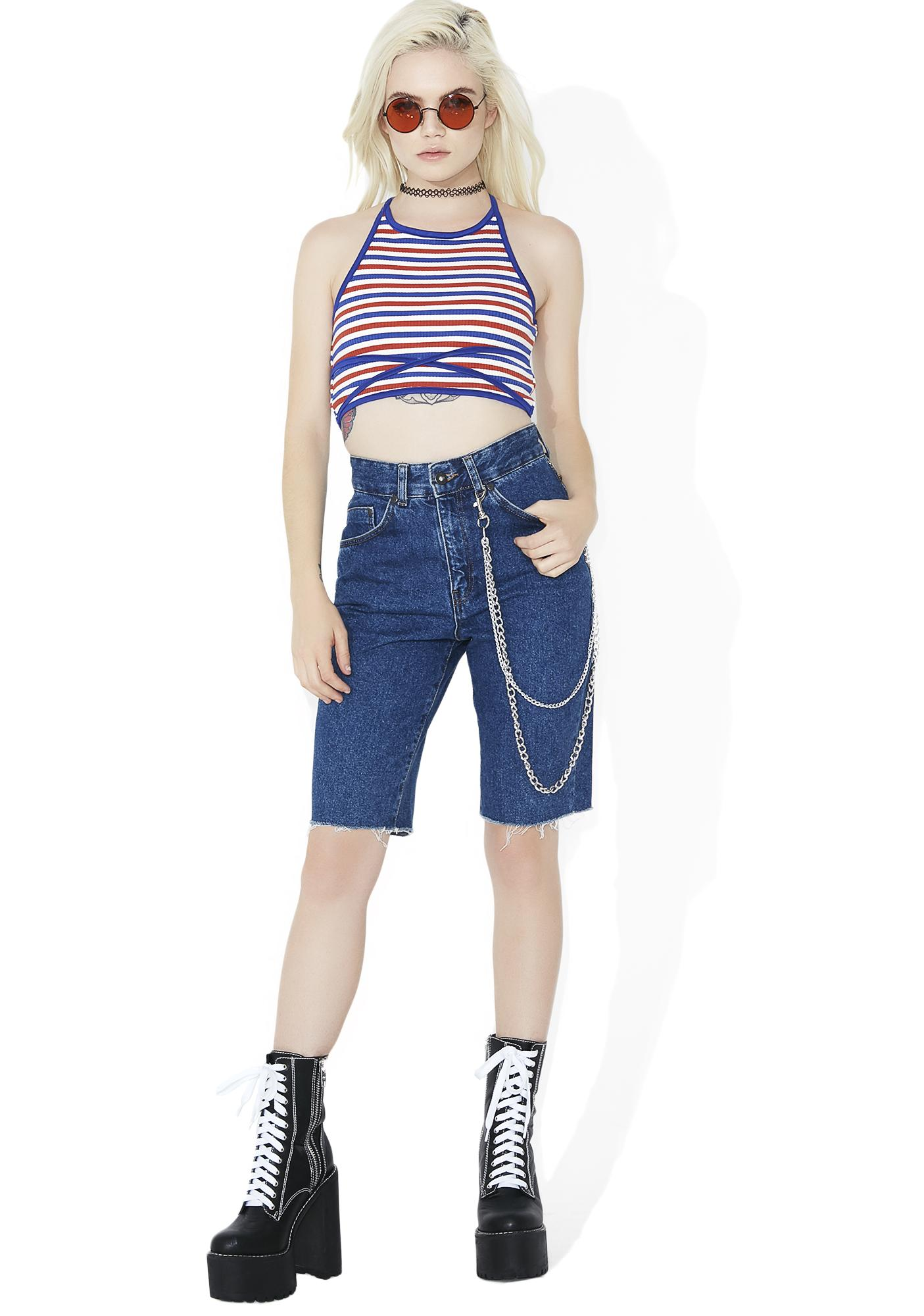 Rosalita Lace-Up Crop Top