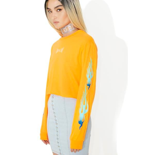 Civil Clothing Slay All Day Cropped Long Sleeve Tee