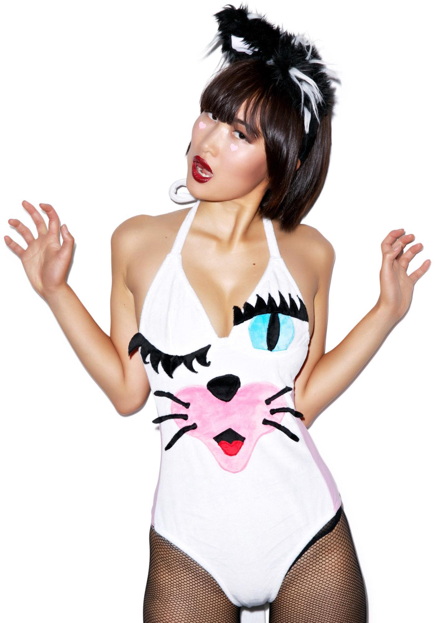 J Valentine Soft Kitty Bodysuit