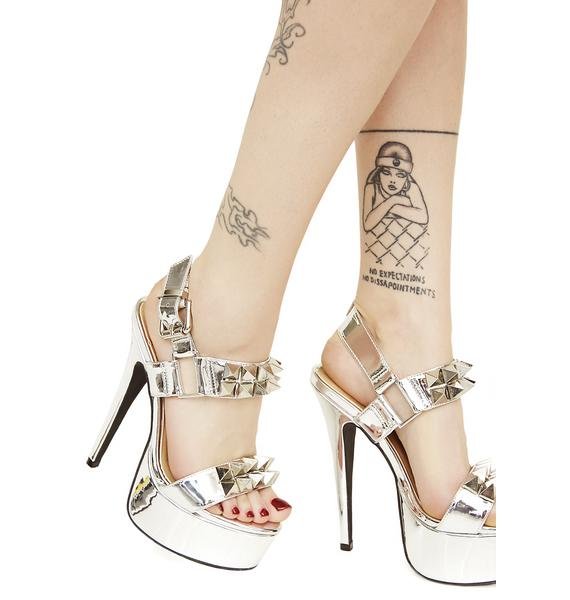 Current Mood Queen Pin Studded Heels