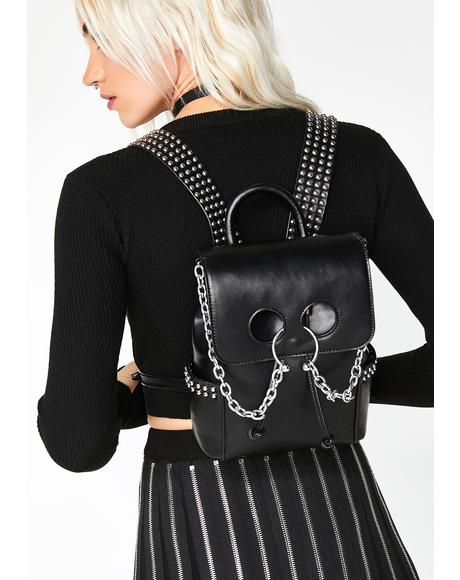 Vile Thoughts Pierced Backpack
