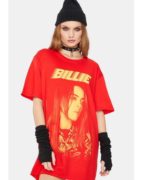 Red Billie Graphic Tee