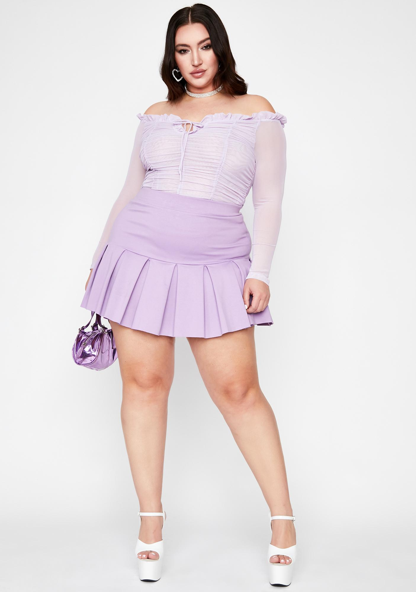 Lilac I'm Perfect For You Mesh Bodysuit