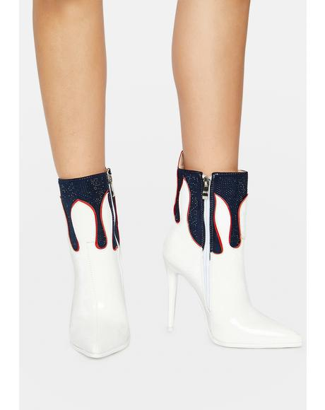 Candace Drip Ankle Boots