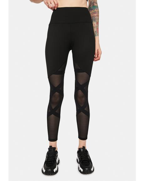Runnin' Around Mesh Leggings
