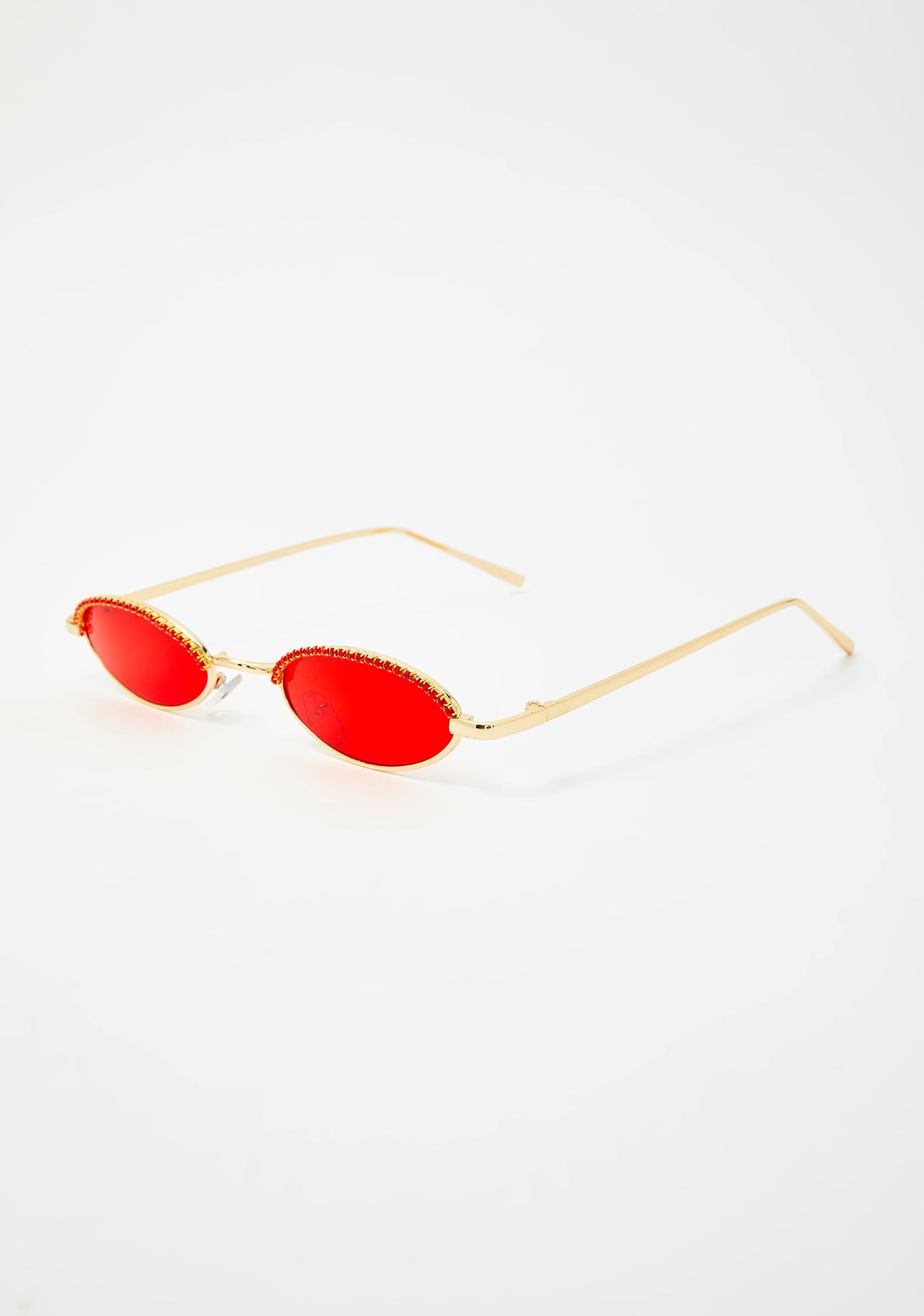 Cupid Crushin It Rhinestone Sunglasses
