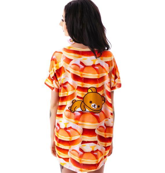 Japan L.A. Rilakkuma Pancake Boxy Tee