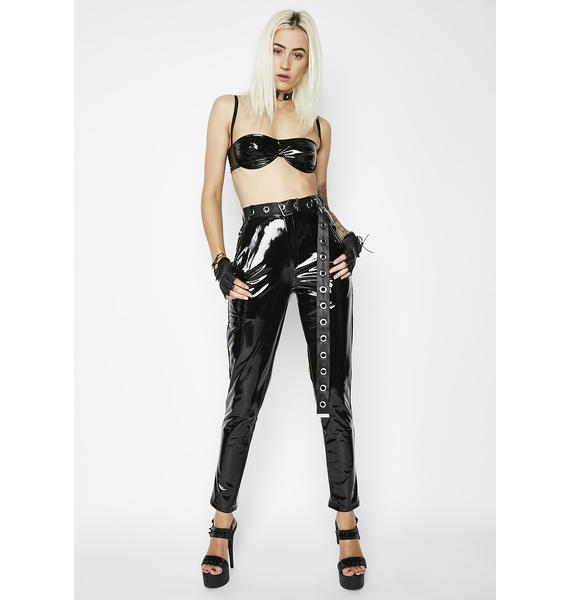 Down To Business Vinyl Pants