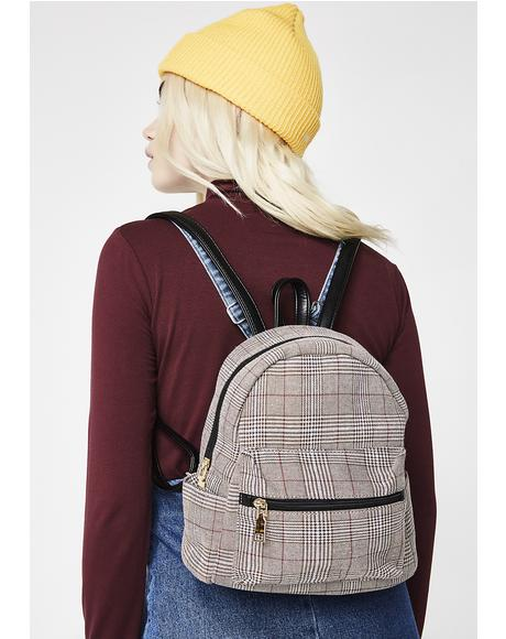 Skippin' Class Plaid Backpack