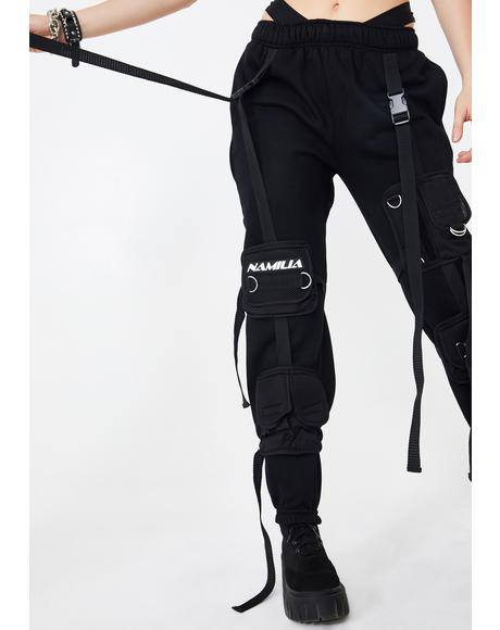 Sweatpants With Detachable Tactical Pocket Cage