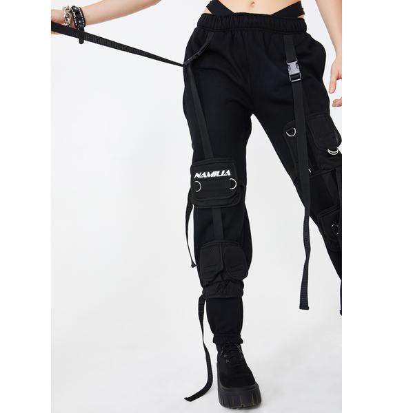 Namilia Sweatpants With Detachable Tactical Pocket Cage