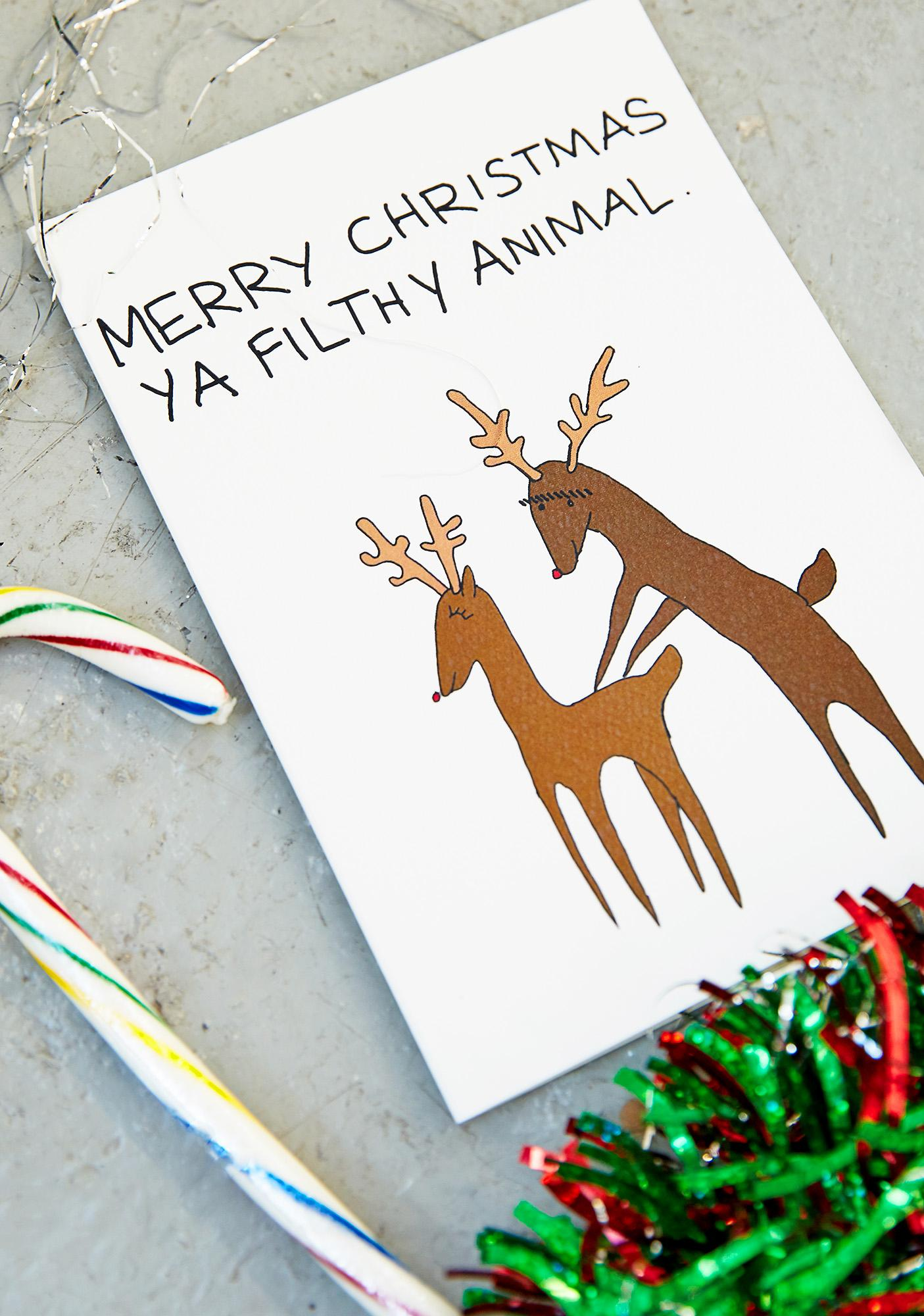 Reindeer Style Christmas Card