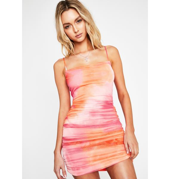 Groovy Psychic Intuition Ruched Dress