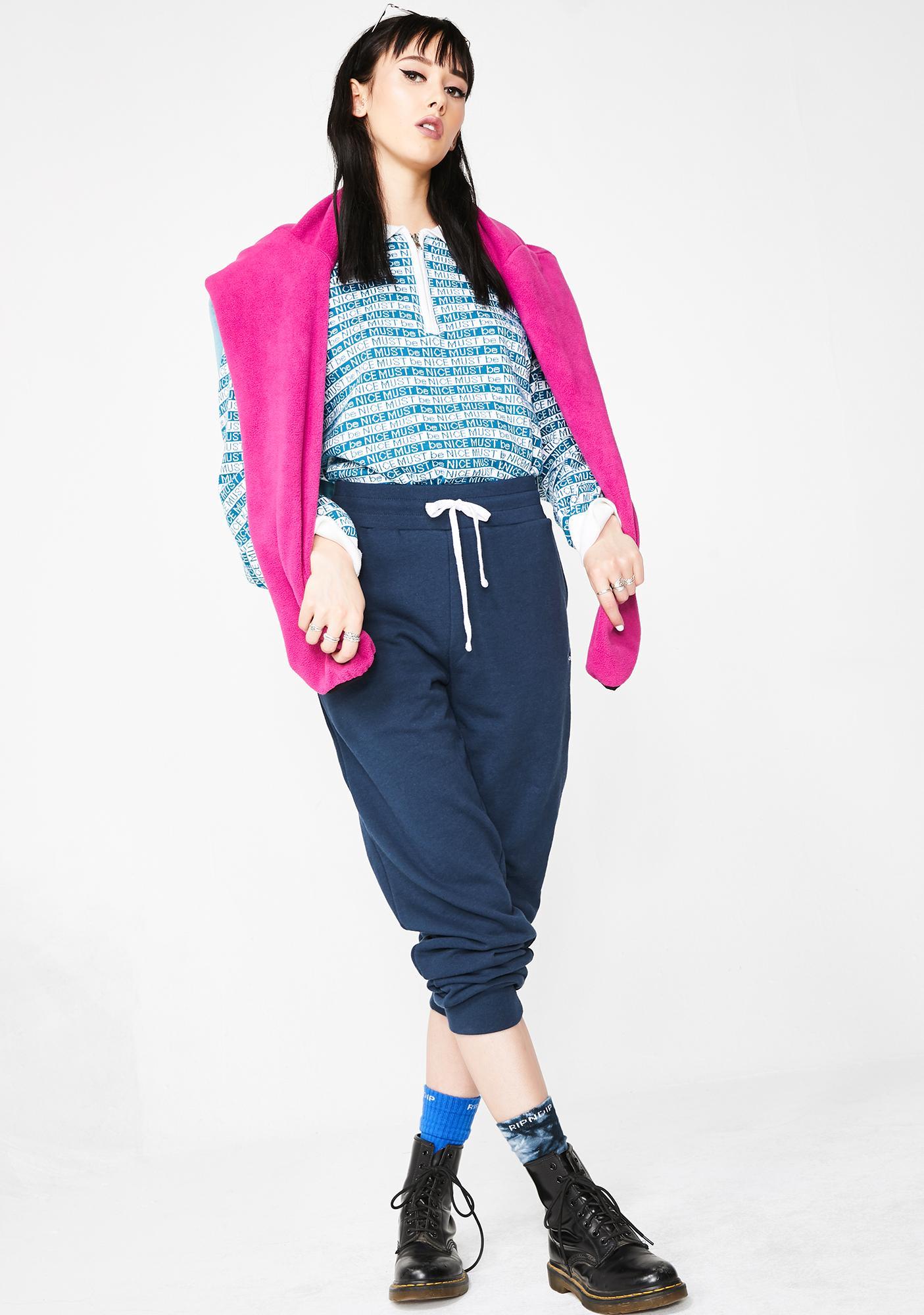 Ripndip Royal Peeking Nermal Sweatpants Dolls Kill Kaos Polos Twotone Navy Blue