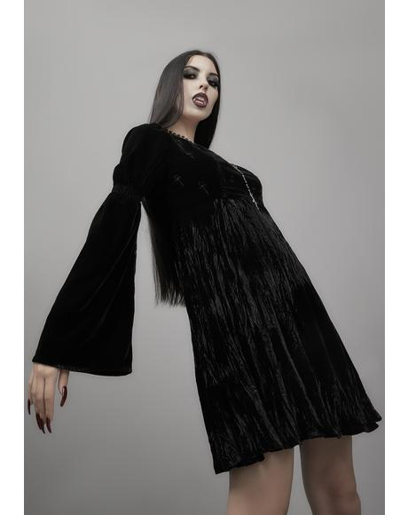 Destined For Destruction Velvet Dress