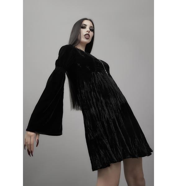 Widow Destined For Destruction Velvet Dress