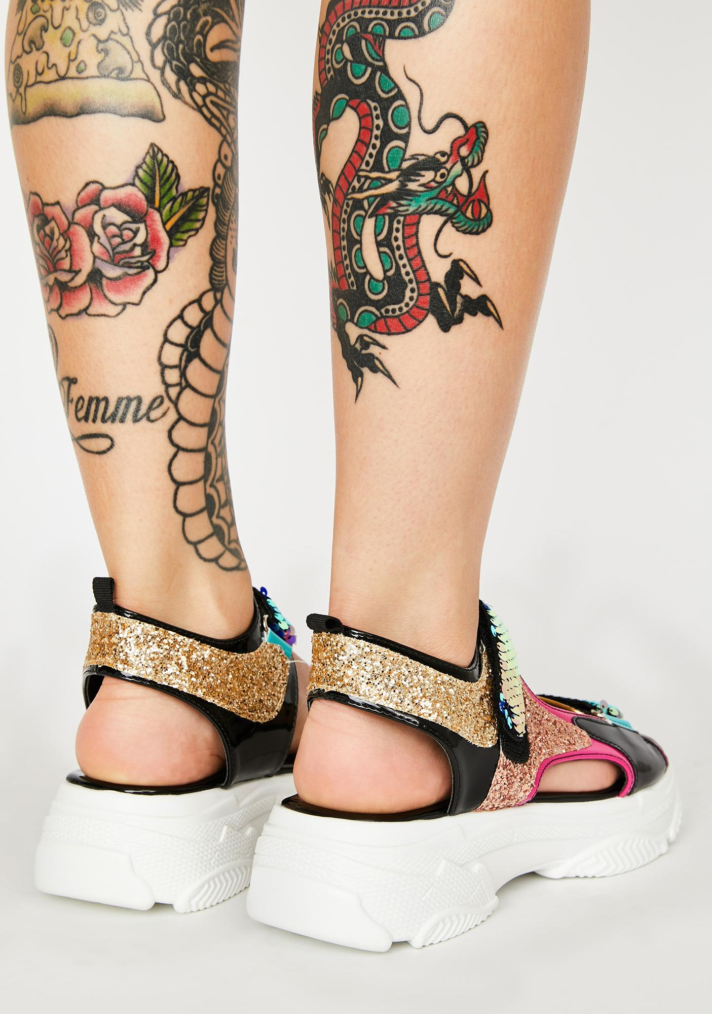 Prism Mastership Sequin Sandals
