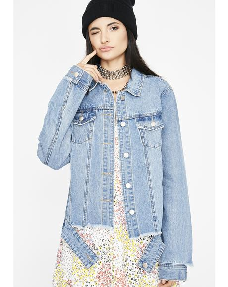 Got Ya Thinking Denim Jacket