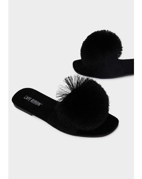 Wishful Future Pom Sandals