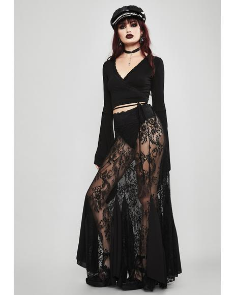 Shrouded In Mystery Lace Skirt