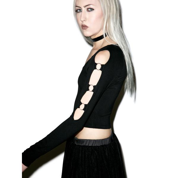 Rebellion Long Sleeve Crop Top