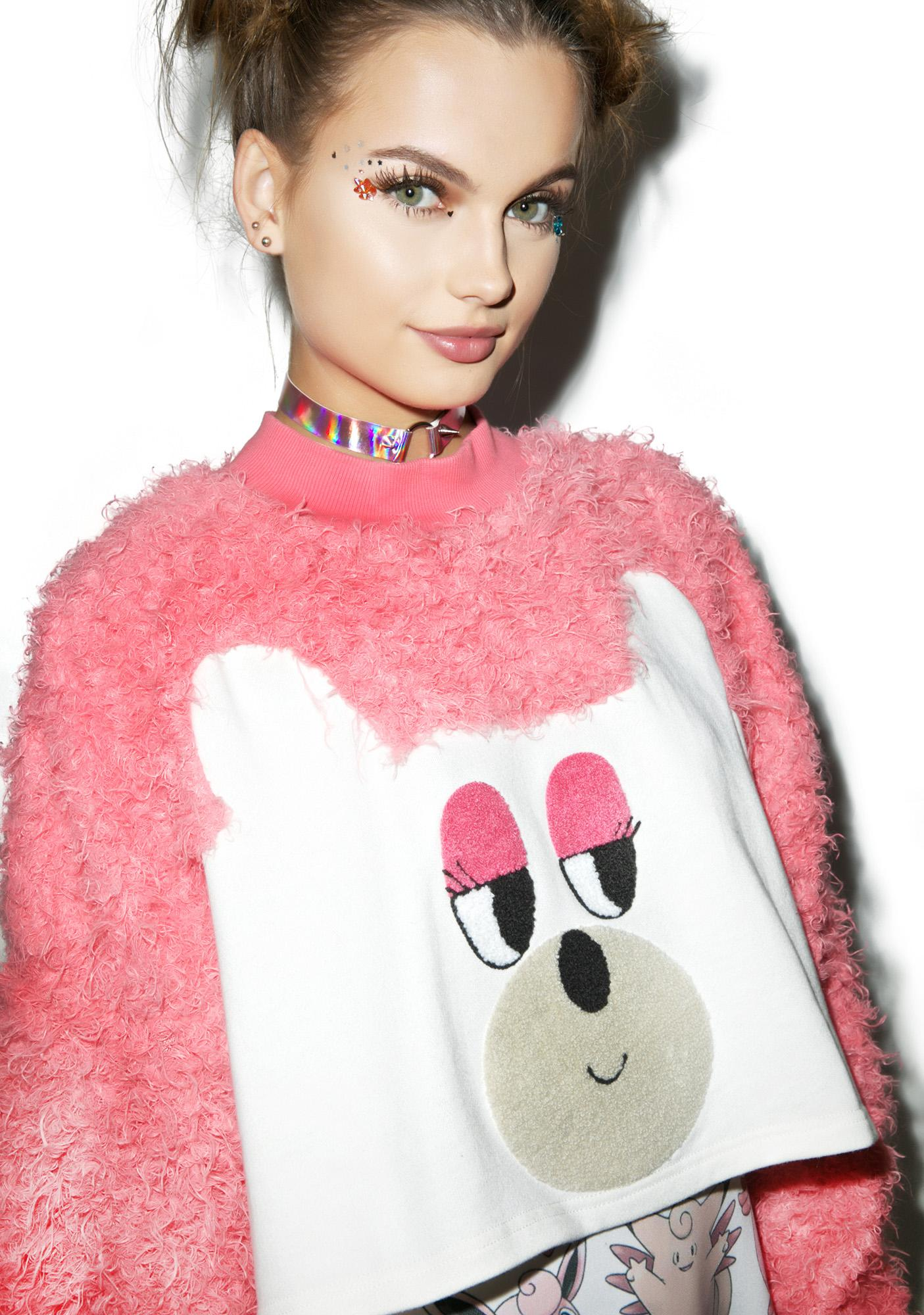 Lazy Oaf Fur Bear Sweatshirt
