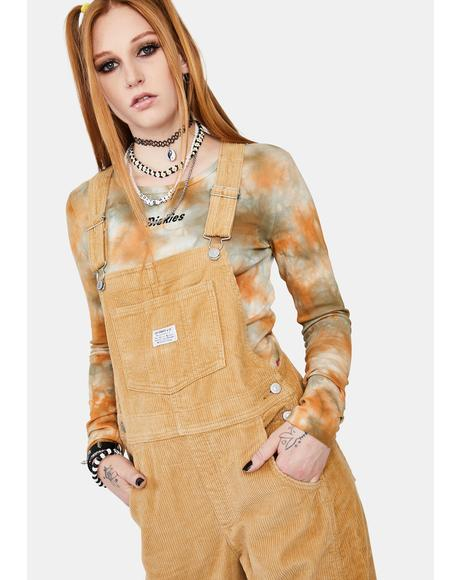 Ice Coffee Vintage Denim Overalls