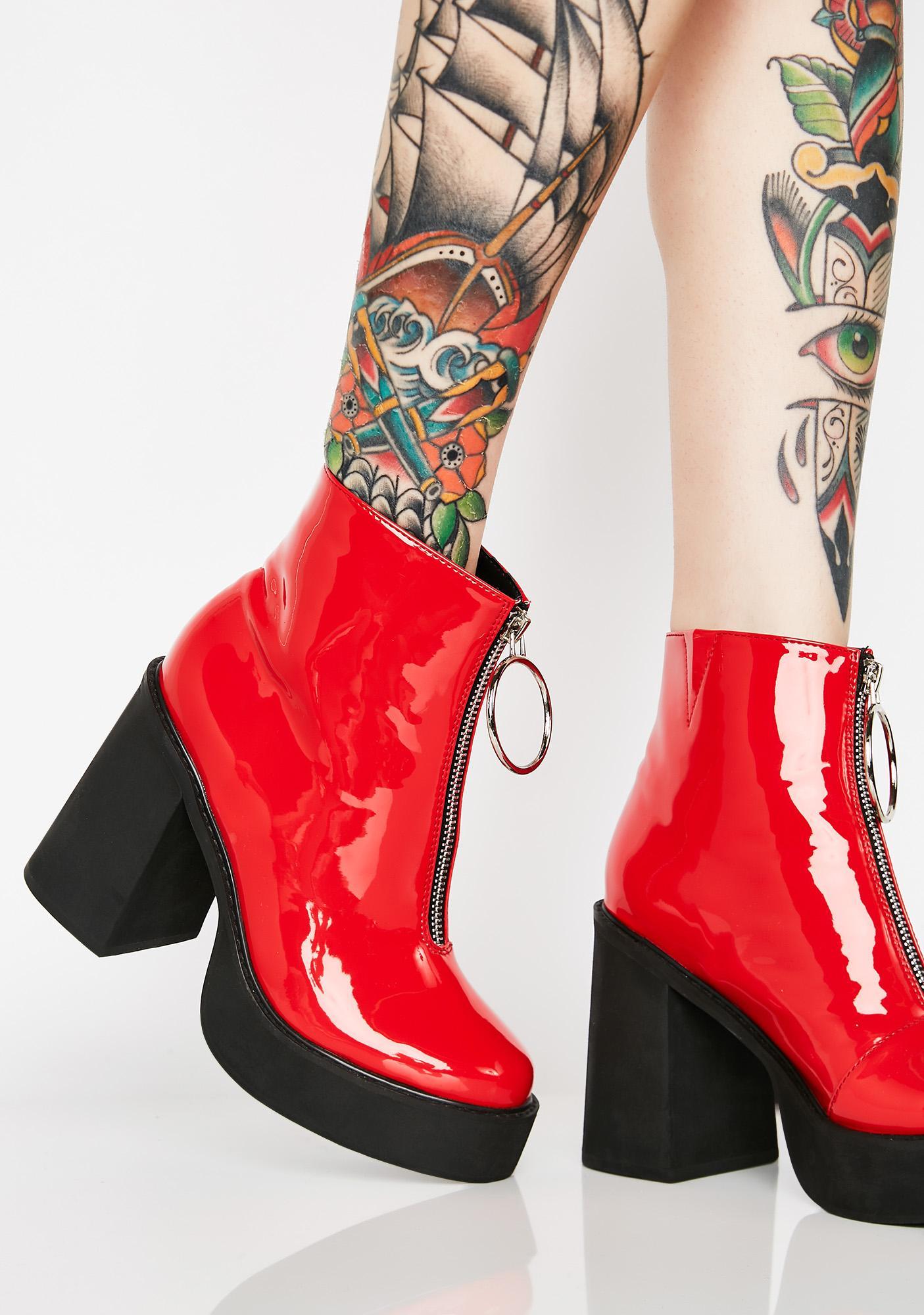 Current Mood Devil Franky Platform Boots