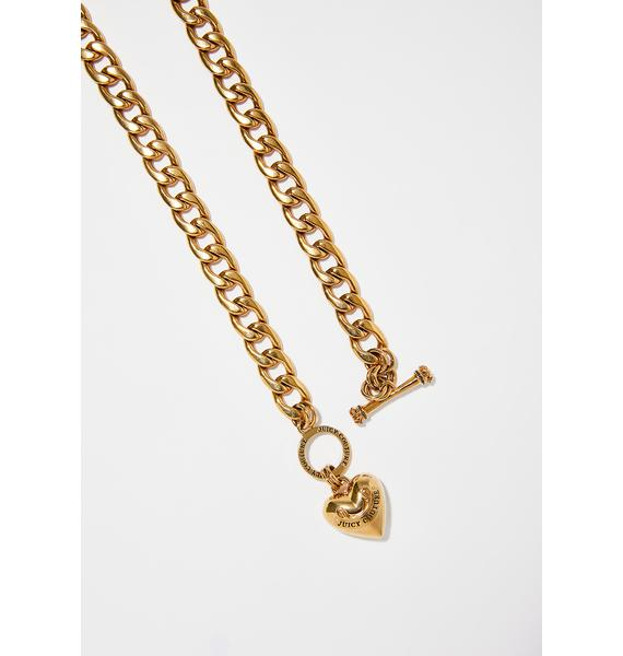 JUICY COUTURE Banner Heart Starter Necklace