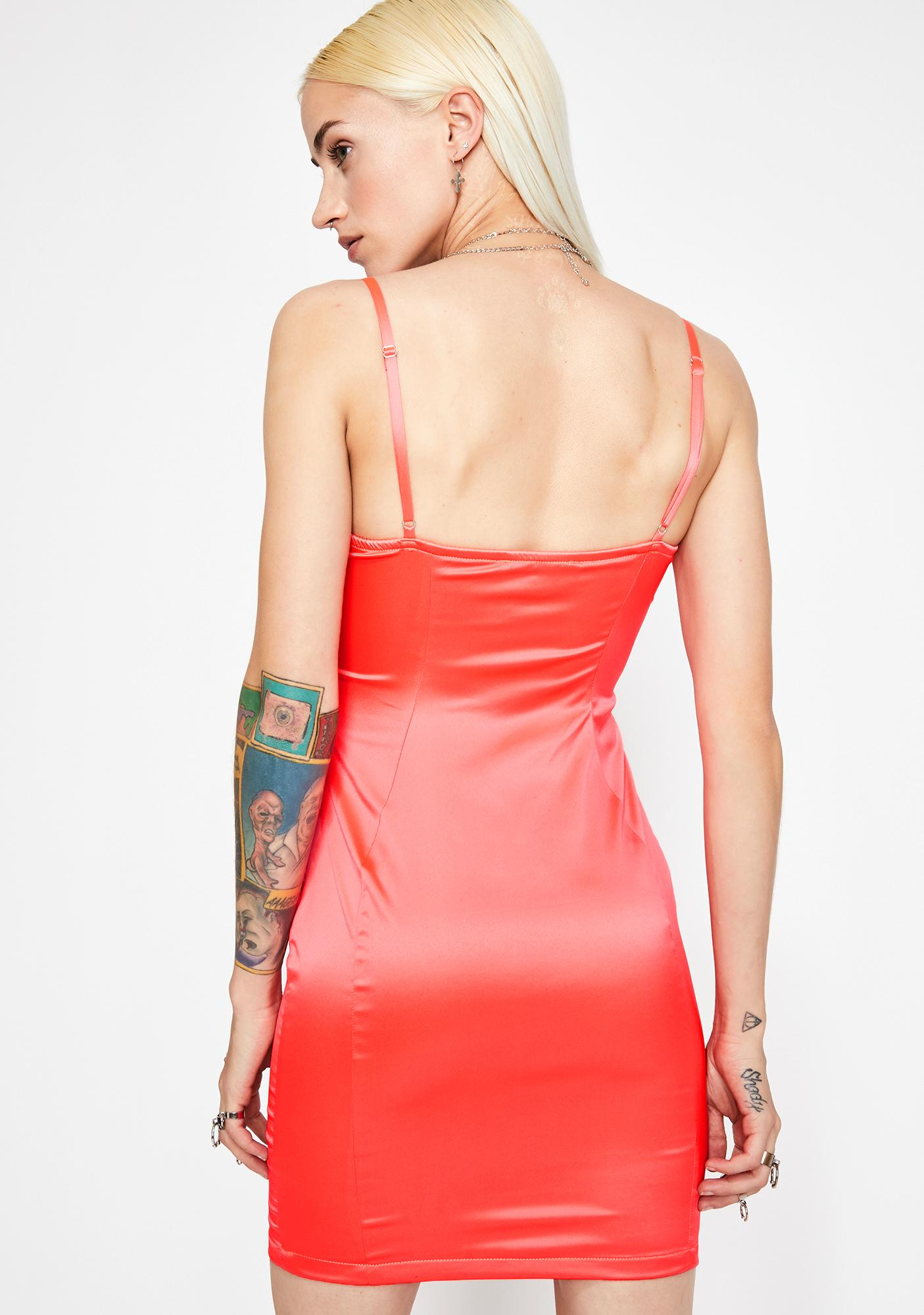Saturday Nite Satin Dress