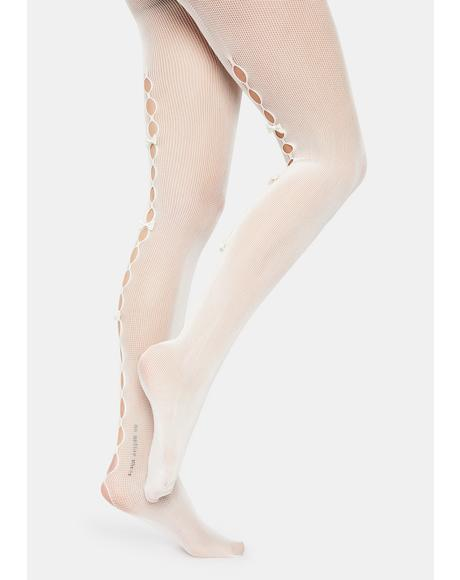 Mademoiselle Cutout Bow Tights