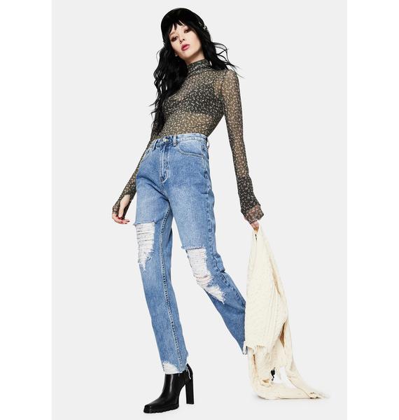 Momokrom Light Wash Slim Fit Jeans