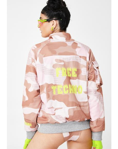 Free Techno Oversize Camo Jacket