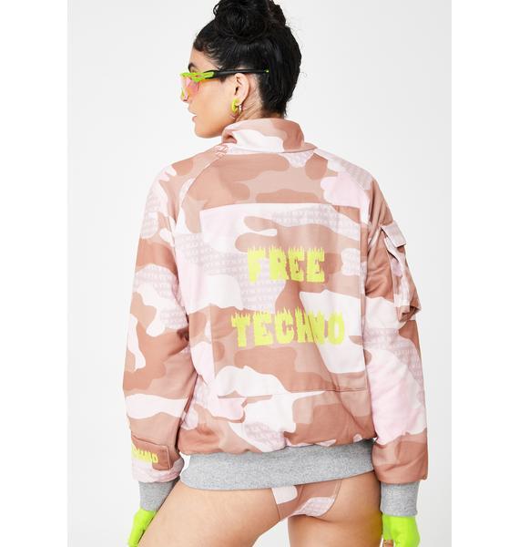 W.I.A Free Techno Oversize Camo Jacket