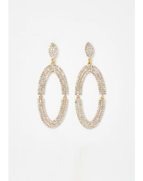 Razzle Dazzle Rhinestone Earrings