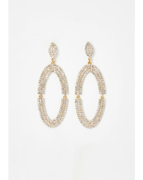 Razzle Dazzle Rhinestone Earrings